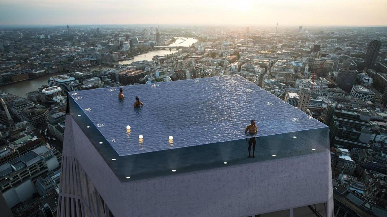 Fou ! Une piscine rooftop canon avec une vue à 360° va ouvrir ses portes à Londres !